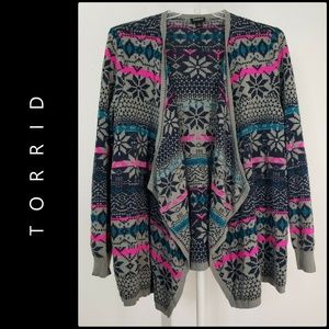 Torrid Women Open Front Cardigan Draped Size 1